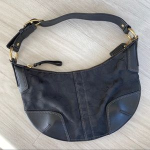 Black Coach signature collection bag